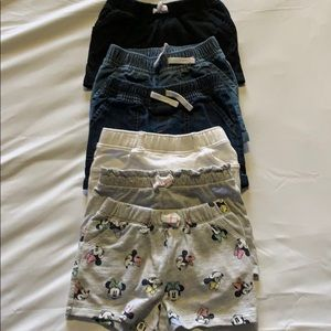Lot of toddler 18 months shorts